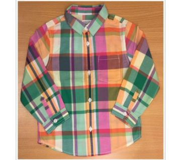 Boys long sleeve yarn dyed stripe shirt