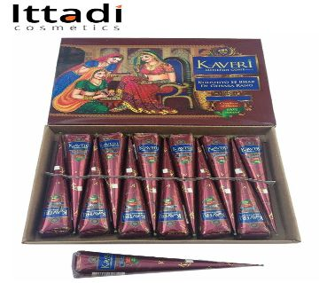 Kaveri Herbal High Quality Mehendi Cone India 12pcs
