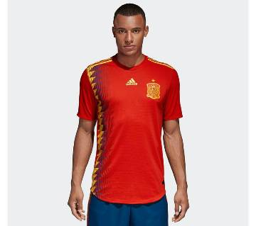 world cup 2018 spain half sleeve jersey copy