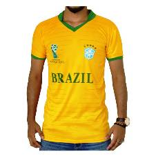 World Cup 2018 Brazil Half Sleeve Jersey Copy