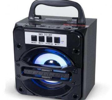 MS-311 Portable Wireless BT Mobile Multimedia Speaker Music Player - Black