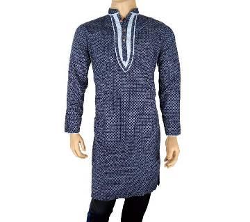 Cotton Semi Long Blue Panjabi for men 23