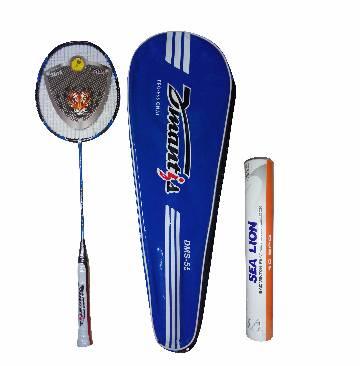 Dmantis N-90-3 Badminton Racket and Sea Lion Shuttlecocks Set (12 pcs) - copy