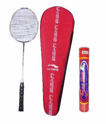 Li-ning N-90-3 Badminton Racket and Sea Lion Shuttlecocks Set (12 pcs) - copy