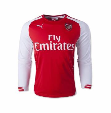 Arsenal 2016-2017 long sleeve jersy red and white (copy)