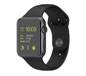 A-1 Bluetooth Smart Watch Phone with Pedometer Camera Single SIM - Black