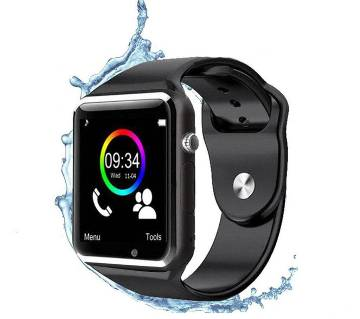 A-1 Bluetooth Smart Watch Phone with Camera Single SIM - Black