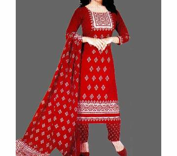 Unstitched Cotton Salwar Kameez (Silver Long Three Piece) pakiza-15