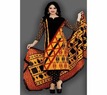 Unstitched Cotton Salwar Kameez (Silver Long Three Piece) Pakiza-35