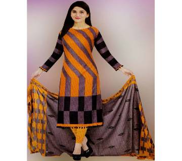 Unstitched Long Pakiza Cotton Three-Piece