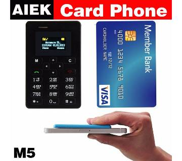 AIEK M5 Mini card Mobile Phone
