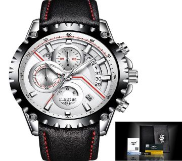LIGE LEATHER STRIP WATCH-9838D