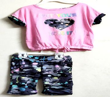 Baby Girls Cotton T Shirt With Pant PS-301