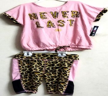 Baby Girls Cotton T Shirt With Pant PS-302
