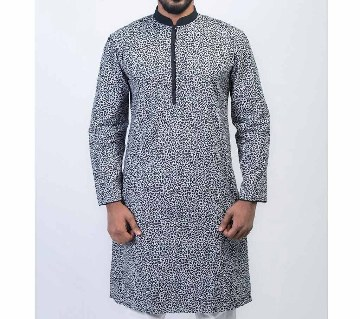 Allover Printed Long Cotton Punjabi