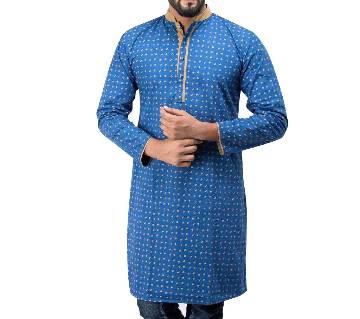 Allover Printed Cotton Long Panjabi