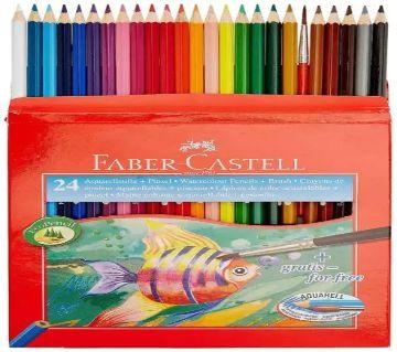 Faber-Castell Watercolor Long Pencils (incl. Brush) - 24 Pcs