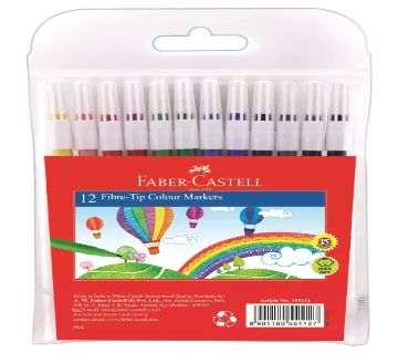 Faber-Castell Fibre Tip Colouring Sketch Pens - 12 color