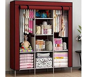 Fashionable Multi functional Cloth Storage Wardrobe HCX Wardrobe Storage Organizer for Clothes Big Size - Multicolor