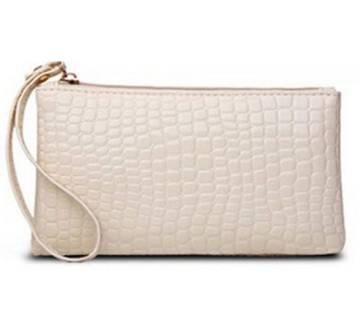 Mini Crocodile Purse white