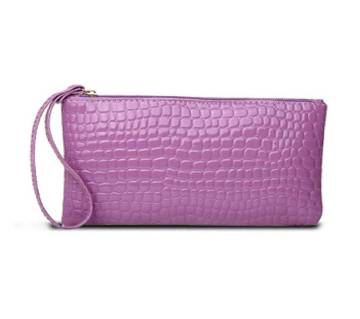 Mini Crocodile Purse Purple