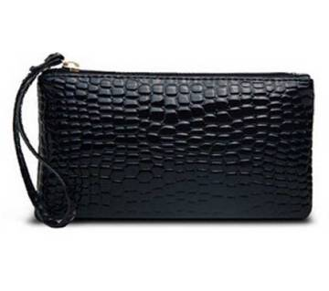 Mini Crocodile Purse Black