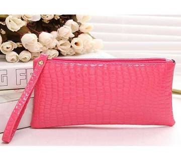 Mini Crocodile Purse Pink
