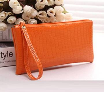 Mini Crocodile Purse Orange