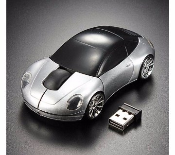 Car Shaped Wireless LED Mouse - Silver