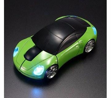 Car Shaped Wireless LED Mouse - Black