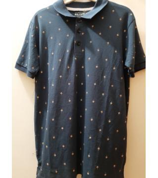 half sleeve cotton  polo shirt-black