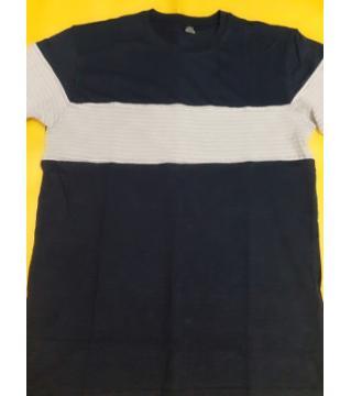 half sleeve cotton T-shirt for mem-B/W