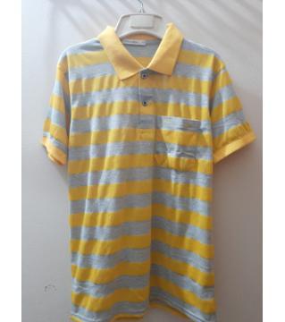 half sleeve cotton polo- shirt  for men-yellow