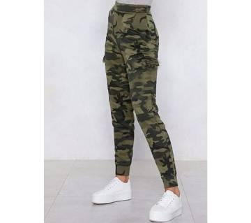 Slim-Fit Army Printed Trouser For Women-c521