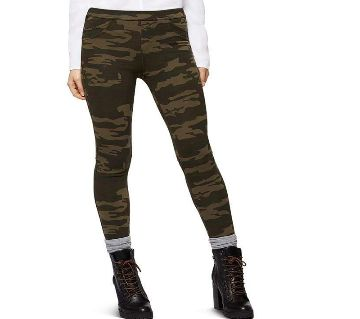 Slim-Fit Army Printed Trouser For Women-c523