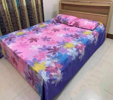 King Size Bed Sheet With Two Pillow cover