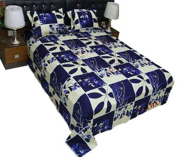 King Size Cotton Bed Sheet and Pillow Cover Set