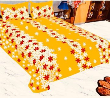 King size bedsheet and cover -yellow