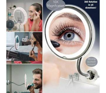 Flexible Mirror 5X Folding Mirror 360-Degree Rotating Makeup Mirror