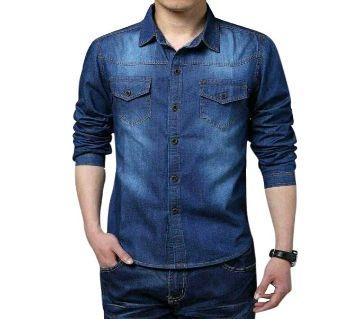 Denim long sleeve Shirt for men