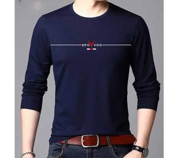 Navy blue Long Sleeve T-Shirt for Men
