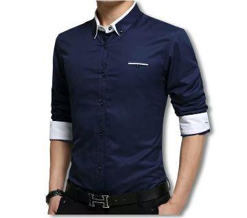 Navy Blue Long Sleeve casual Shirt/ Casual Shirt