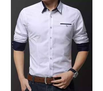 White Colour Long Sleeve Casual Shirt for Men