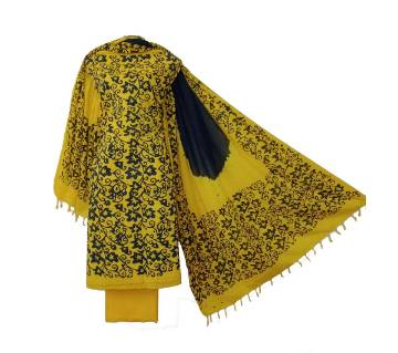 Mom Batik three piece unstiched women deshi dress shalwar kameez