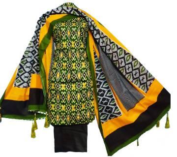 Joypuri cotton three piece shalwar kameez dress for women unstiched