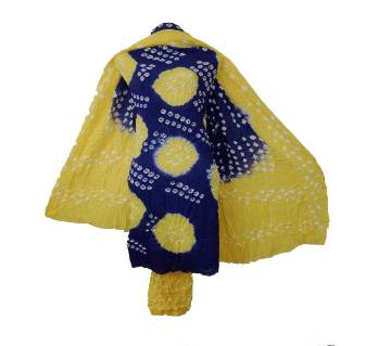 Chunri Batik print Three Piece Untisched Women Deshi Dress salwar kameez