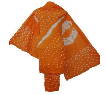 Batik print Three Piece Untisched Women Deshi Dress salwar kameez
