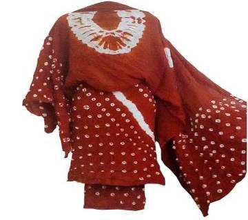 Batik print three piece women dress salwar kameez