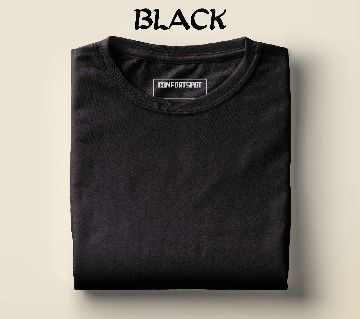 half sleeve cotton t-shirt for men  black