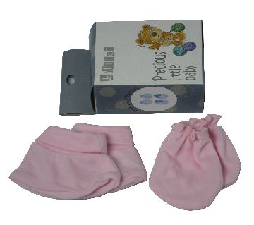 New born Baby Mitten Booties pack 6pcs